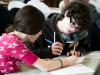 Students competing at MoMath\'s Second Annual Suffolk County Middle School Math Tournament