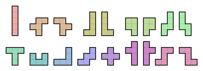 All_18_Pentominoes