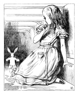 Drawing from Alice in Wonderland