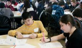 Students competing at MoMath's Second Annual Suffolk County Middle School Math Tournament