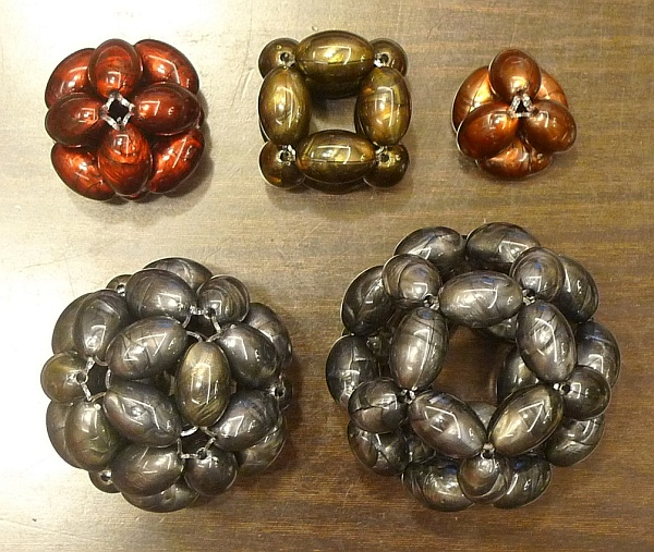 Beaded Platonic Solids