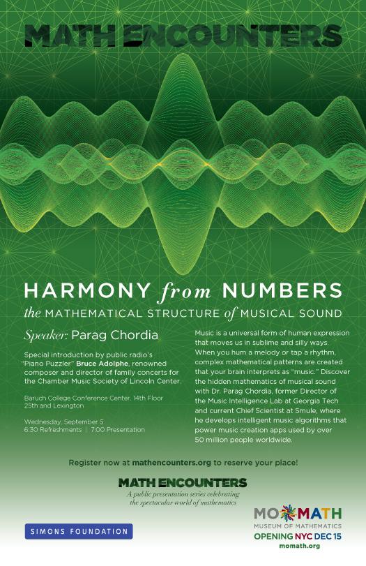 Parag Chordia Math Encounters Poster