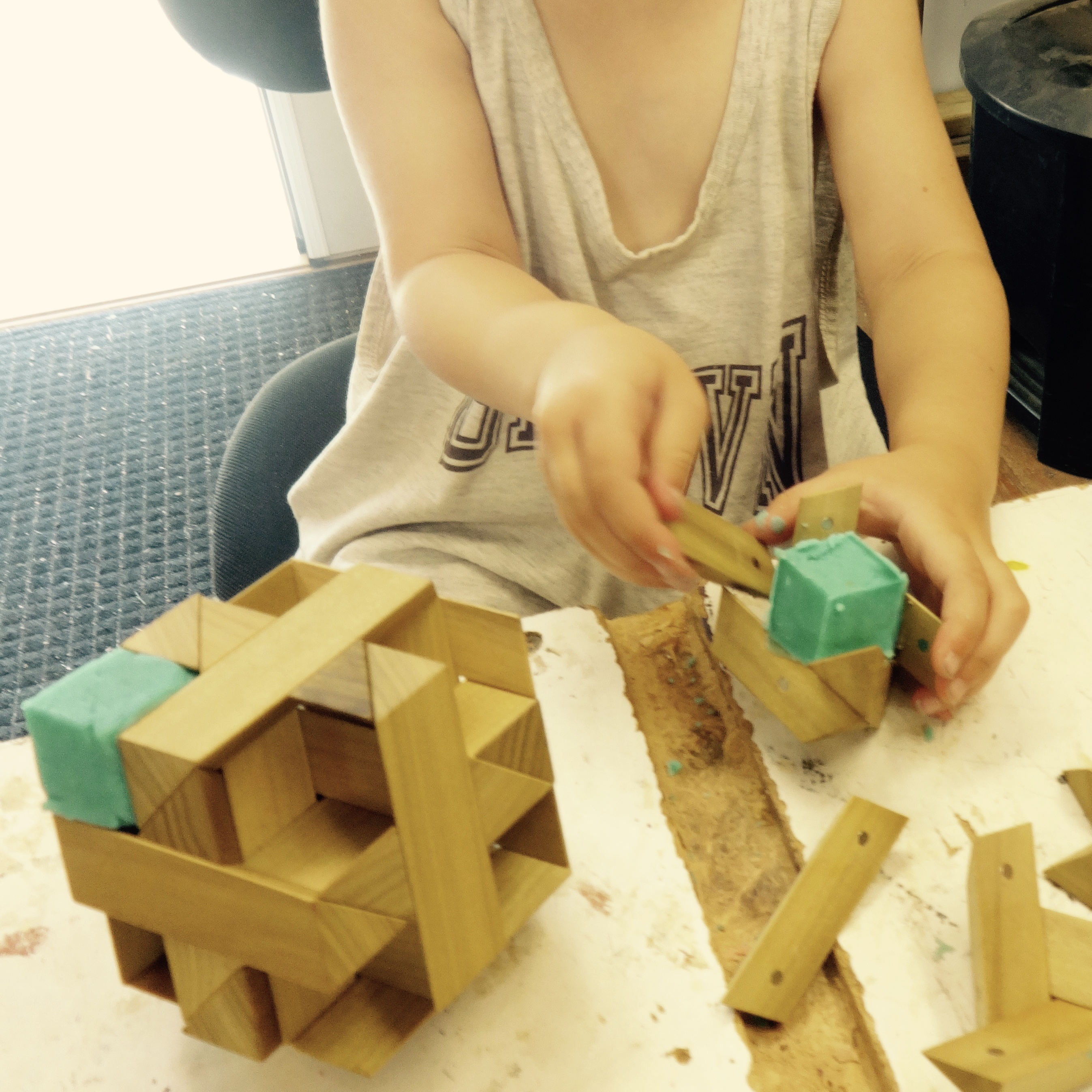 Family Fridays - Wood, Magnets, Playdough, and Space