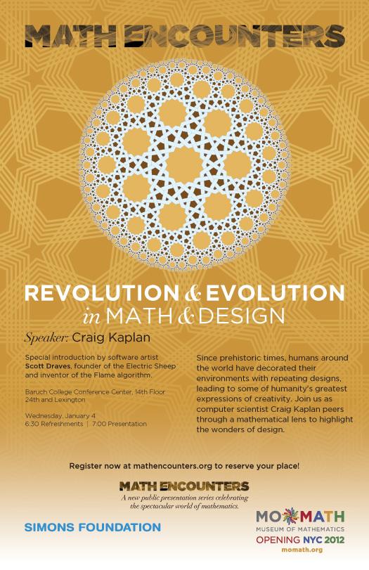 Craig Kaplan Math Encounters Poster