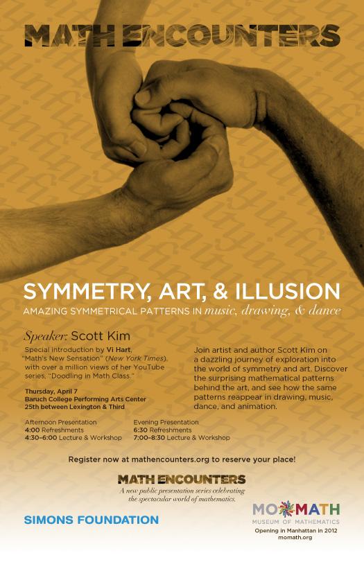 Scott Kim Math Encounters April 7 poster