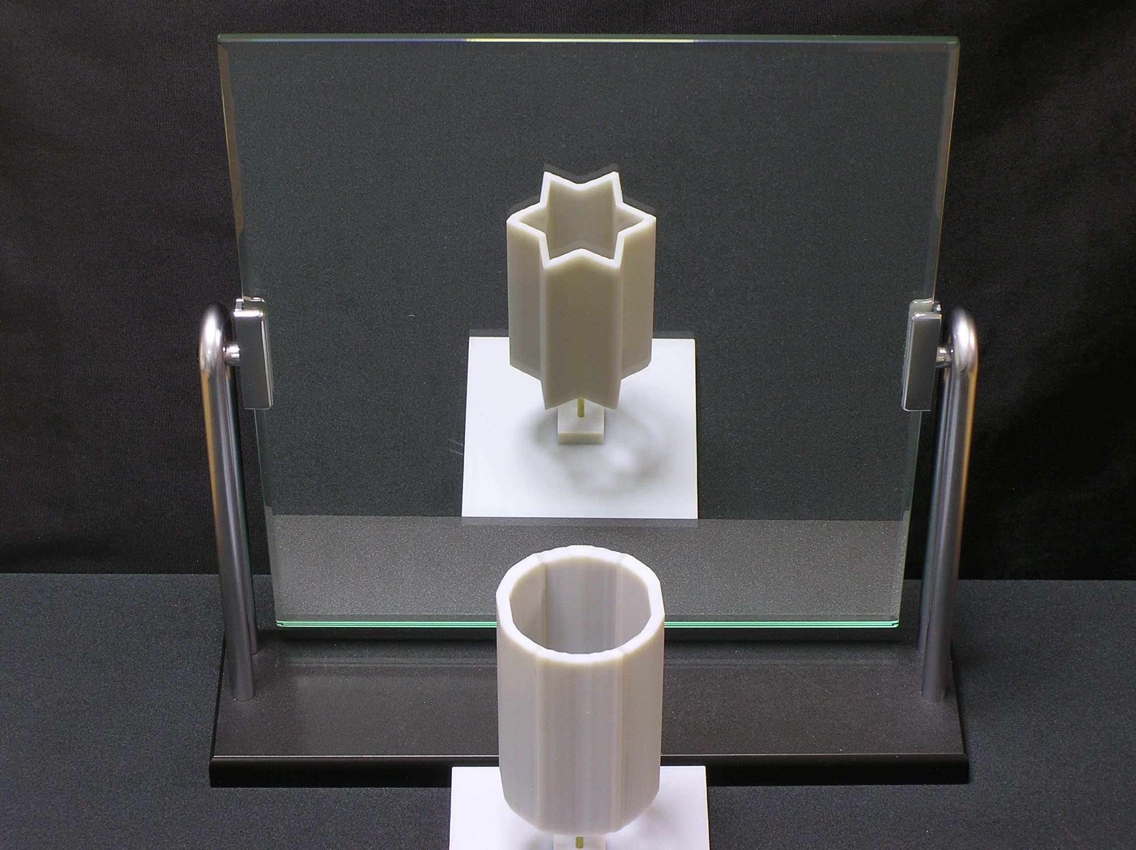 Reflection of cylinder in mirror