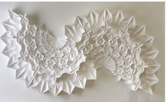 White origami art