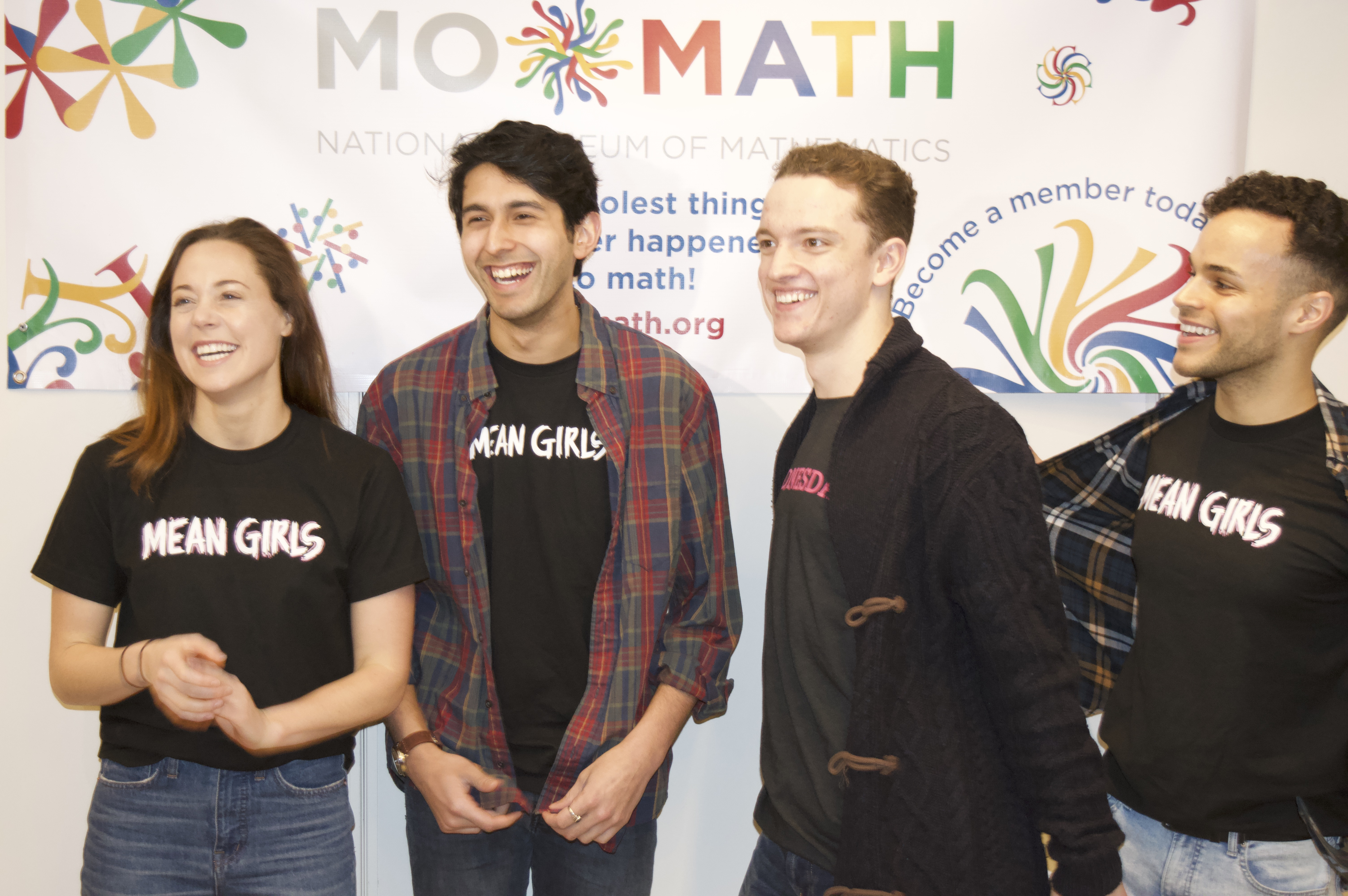 The cast of Mean Girls visited MoMath earlier this year for a student event
