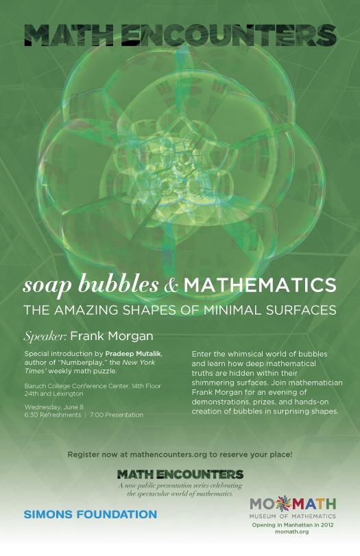 Frank Morgan Math Encounters June 8 poster