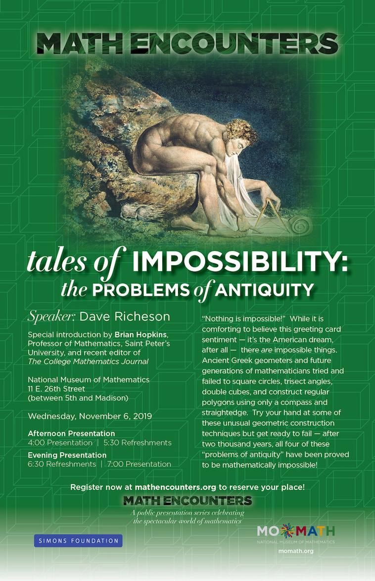 November 2019 Math Encounters poster