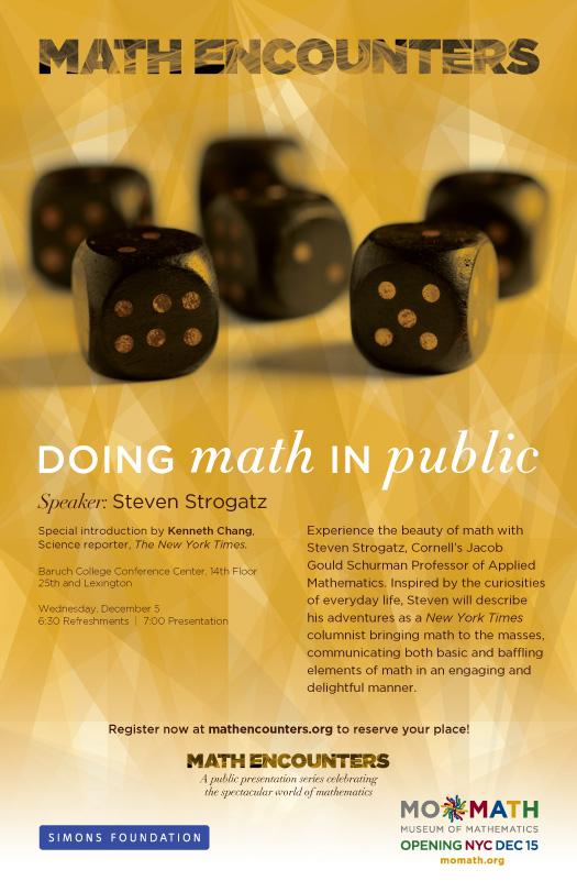 Strogatz Math Encounters Poster