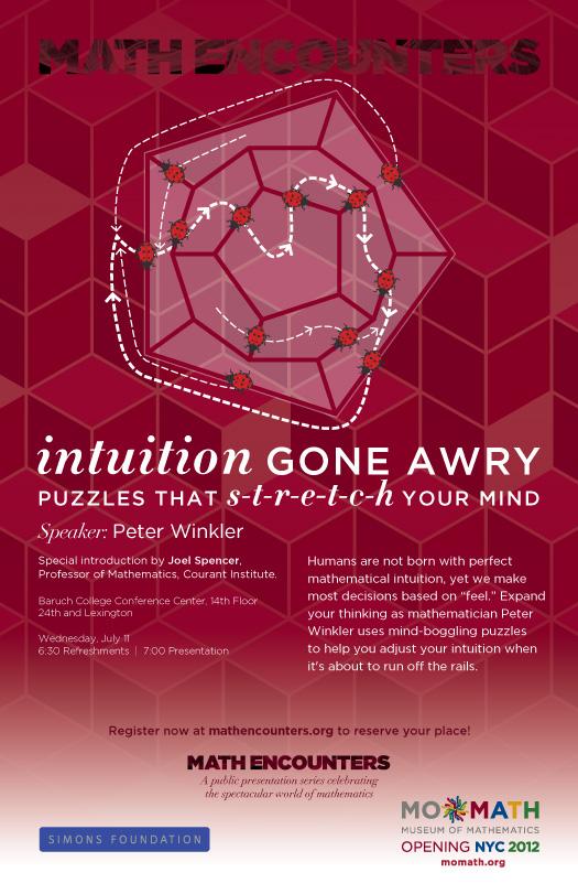Peter Winkler Math Encounters Poster