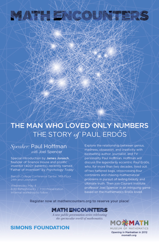 Paul Hoffman Math Encounters May 4 poster