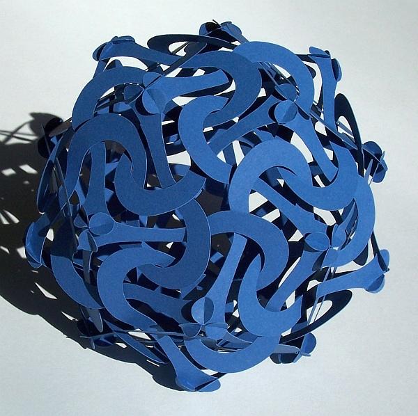 Blue Modular Kirigami Meanders
